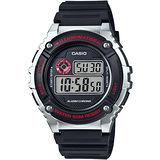 CASIO 競速電小子休閒數字錶(黑x銀) W-216H-1C
