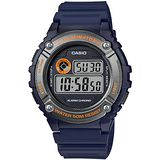 CASIO 競速電小子休閒數字錶(藍x灰) W-216H-2B