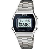 CASIO 簡單風鋼帶款電子數位錶(銀) B640WD-1A