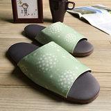 台灣製造-療癒系-森活布質室內拖鞋-蒲公英-光合綠