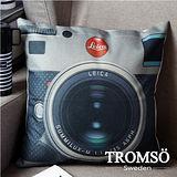 TROMSO-品味英倫棉麻抱枕/相機萊卡
