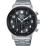 ALBA Prestige 飛行時尚酷玩家計時腕錶-灰/44mm VD53-X256D(AT3A69X1)