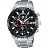 ALBA ACTIVE 活力玩酷型男計時腕錶-黑/44mm VD57-X080D(AM3337X1)