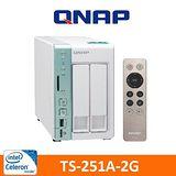 QNAP 威聯通 TS-251A-2G 網路儲存伺服器