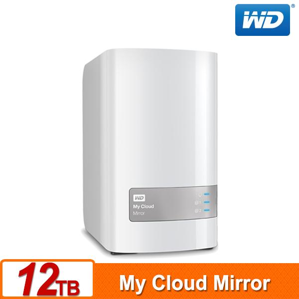 WD 威騰 My Cloud Mirror (Gen2) 12TB (6TBx2) 雲端儲存系統