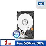 WD 藍標 1TB 2.5吋 SATAIII內接硬碟(WD10JPVX)
