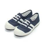 (中大童) TE TE 綁帶帆布鞋 藍 鞋全家福