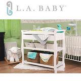 【美國 L.A. Baby】嬰兒尿布台置物架(原木色.白色)