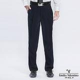 Emilio Valentino 范倫提諾超柔打褶西褲-深藍