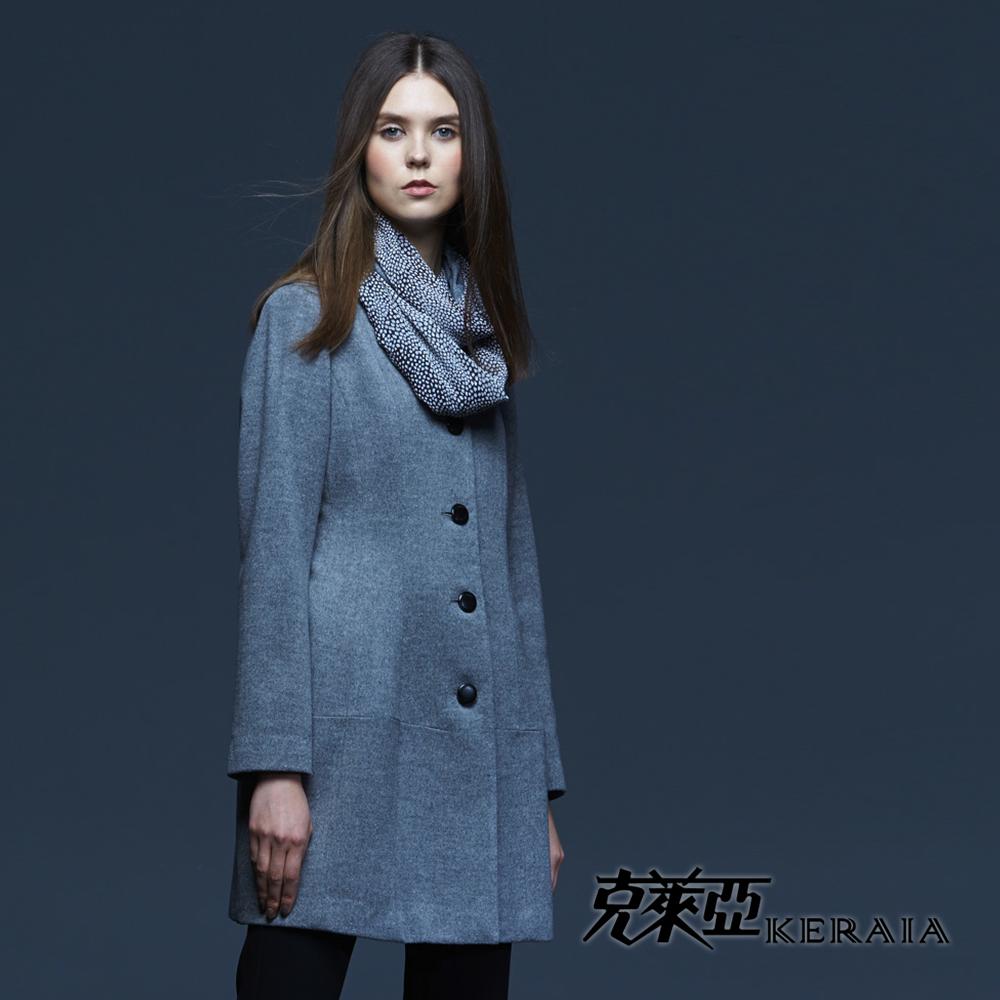 【克萊亞KERAIA】柔軟羊毛長版大衣外套
