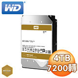 WD 威騰 Gold 4TB 7200轉 128MB SATA3 企業級硬碟(WD4002FYYZ)