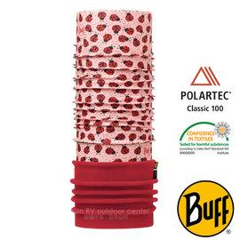 【西班牙 BUFF】兒童款 POLARTEC 加長型超彈性保暖魔術頭巾/可當圍巾 圍脖帽子 113423 瓢蟲派對