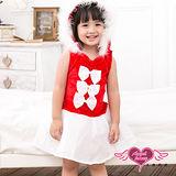 【天使霓裳】甜蜜童話 耶誕服舞會 童裝角色服(紅F)