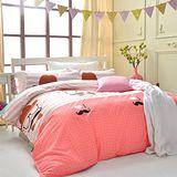 美夢元素 大魔術師 天鵝絨雙人四件式 全鋪棉兩用被床包組