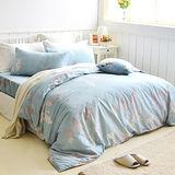 美夢元素 飄絮 天鵝絨雙人加大四件式 全鋪棉兩用被床包組