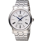 SEIKO 精工 Premier 超薄系列機械腕錶 4R35-01C0S 白 SRPA17J1