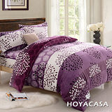 《HOYACASA魔法愛戀》加大四件式法蘭絨被套冬包組