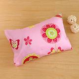 鴻宇HongYew《粉紅花園》台灣製 美國棉 防蹣抗菌兒童纖維枕