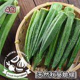 【愛上新鮮】天然秋葵脆條4包(40g±10%/包)