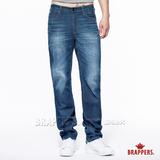 BRAPPERS 男款 男中腰系列-男用直統褲-藍