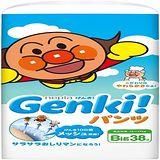 nepia 【買一送二】日本境內Genki!空氣感麵包超人 褲型XL38*3包