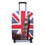 Bibelib 法國設計品牌 彈性行李箱套-英國大笨鐘(適用26-31吋行李箱)