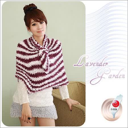 Lavender百變魔術圍巾-紫白混色(寬版) -friDay購物 x GoHappy