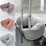 【OMORY】棉布條紋微粒子貼身靠枕/頸枕(4款)