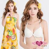 【天使霓裳】泳衣 海洋系女孩 三件式鋼圈比基尼泳裝(黃M~XL)