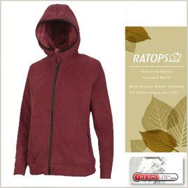 【瑞多仕-RATOPS】女款 Thermolite 推毛防潑水夾克.輕量保暖外套 DH6120 牛津紅色 V1
