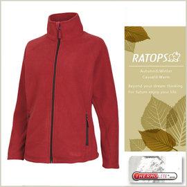 【瑞多仕-RATOPS】女款 Thermolite 推毛防潑水夾克.輕量保暖外套 DH6123 玫瑰紅色 V1