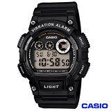 CASIO卡西歐 LED閃光震動提示運動電子數位錶 W-735H-1A