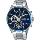 ALBA ACTIVE 活力運動型男計時腕錶-藍/42mm VD57-X081B(AM3345X1)