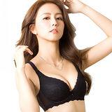 【思薇爾】浮華美學系列B-E罩蕾絲包覆大罩內衣(黑色)