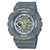【CASIO 卡西歐】Baby-G 雙顯個性時尚運動腕錶(43.4mm/BA-110PP-8A)