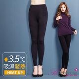 【BeautyFocus】台灣製女款天絲機能吸濕發熱褲-3845黑色