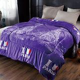 生活提案-保暖法蘭絨暖暖被-甜蜜依戀(紫)