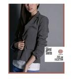 CHICA 時尚貴族 雙口袋西裝外套(共二色)-深灰