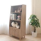 【Hopma】日式簡約四層二門收納櫃(淺橡木)