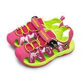 【中童】GOOD YEAR 多功能運動護趾涼鞋 野外叢林系列 粉螢綠 68612