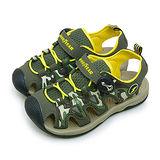 【中童】GOOD YEAR 多功能運動護趾涼鞋 野外叢林系列 迷彩綠 68615
