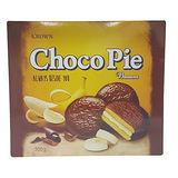 CROWN 香蕉巧克力派300g