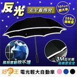 好傘王 電光厚銀膠輕大傘(買1送1)