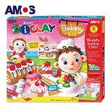 【BabyTiger虎兒寶】韓國AMOS 6色 18克 蛋糕 DIY 超輕黏土