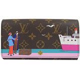 Louis Vuitton LV M62137 Sarah 限量圖案熱銷款經典花紋扣式長夾 現貨