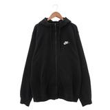 NIKE (男) 尼龍防風外套(連帽) 黑白 804392010