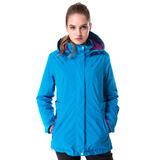 【hilltop山頂鳥】女款GoreTex單件式IA防水短大衣H22FS6藍