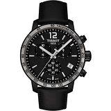 TISSOT T-Sport Quickster 競速運動計時腕錶-黑/42mm T0954173605702