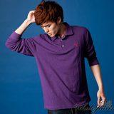 男款舒適休閒翻領POLO衫-2色 紫