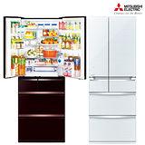 送曬衣架★Mitsubishi三菱605L日本原裝變頻六門電冰箱MR-WX61Z
